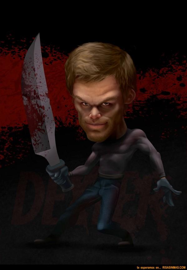 Caricatura de Dexter Morgan