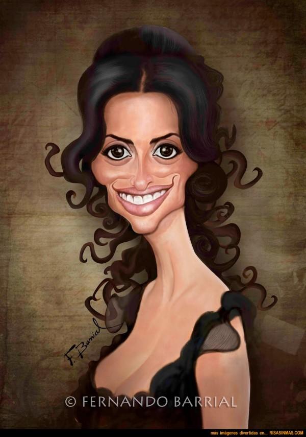 Caricatura de Penélope Cruz