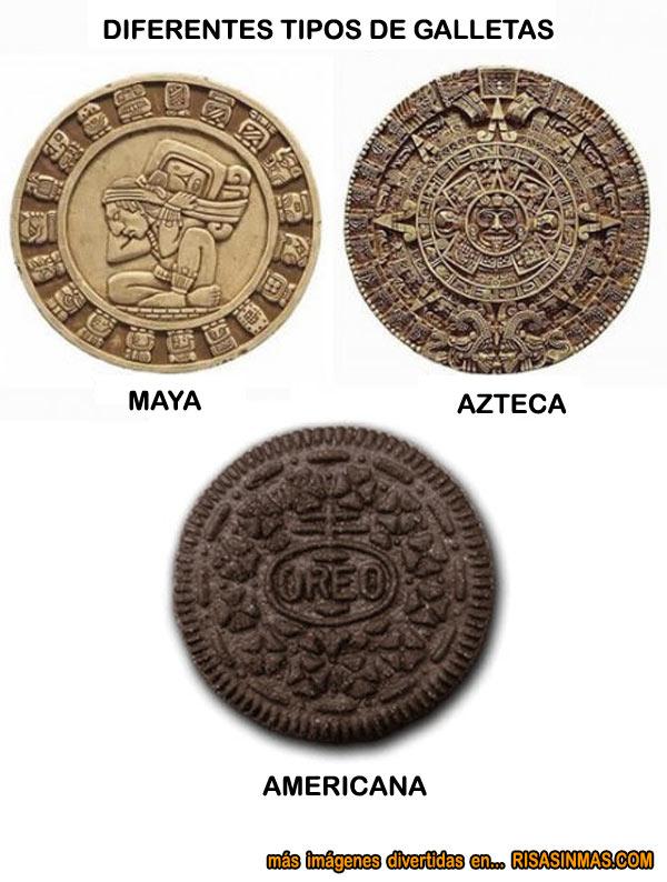 Diferentes tipos de galletas