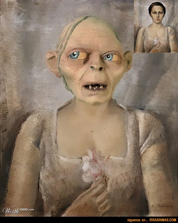 Gollum obra de arte