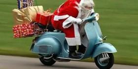 Papa Noel con prisas