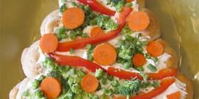 Árboles de navidad originales: Comida vegetariana