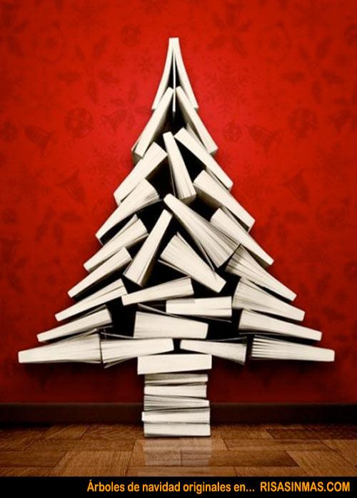 Rboles de navidad originales libros - Arbol de navidad con libros ...
