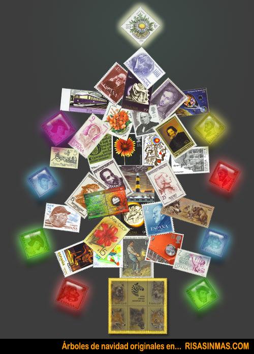 Árboles de navidad originales: Sellos