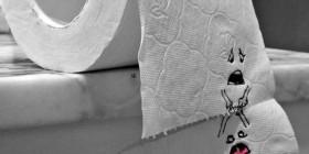 Desgarradoras imágenes de un rollo de papel higienico