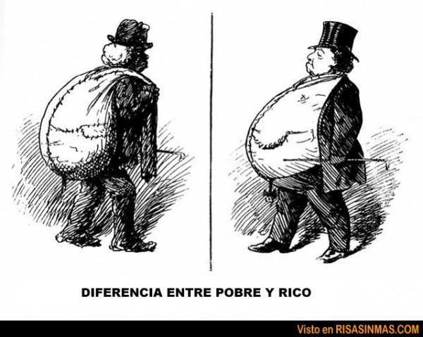 Diferencia entre pobre y rico