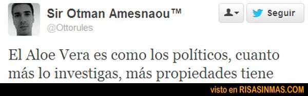 Políticos y Aloe Vera