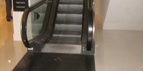 Una práctica escalera mecánica