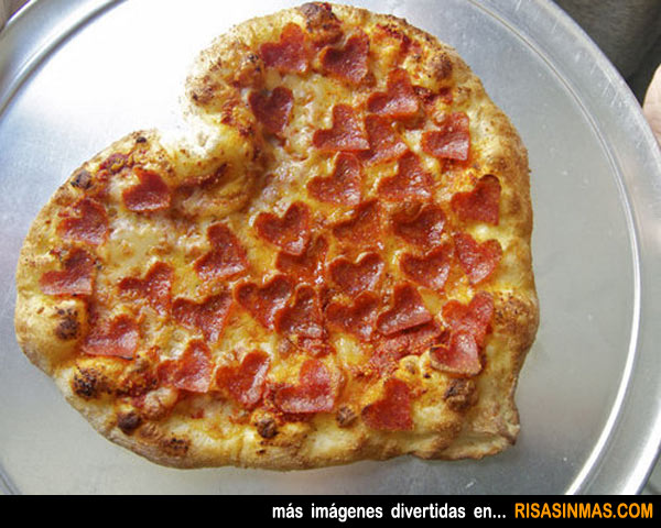 Pizza especial San Valentín