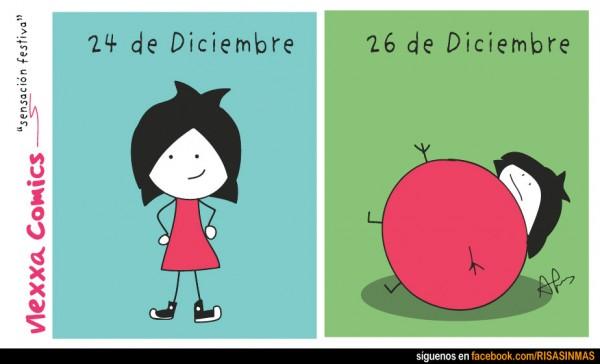 Antes y después de Navidad