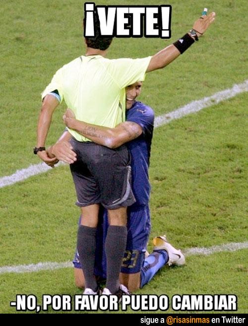 Arrepentimiento en partido de fútbol