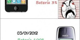 Batería Apple vs Nokia