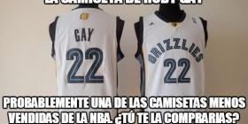 La camiseta de Rudy Gay
