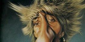 Caricatura de Rod Stewart