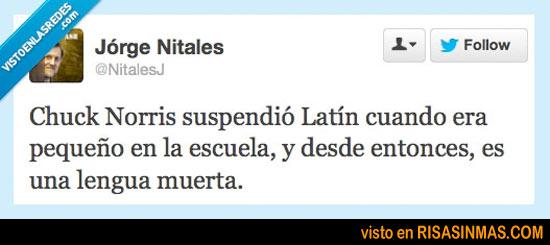 Chuck Norris suspendió latín