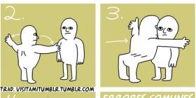 Cómo abrazar a un hombre