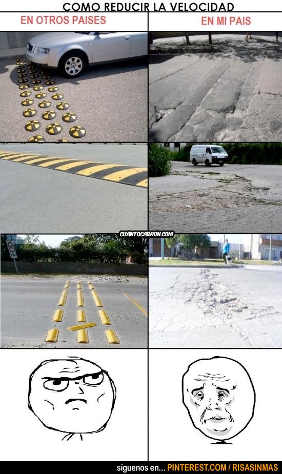 Cómo reducir la velocidad de los coches