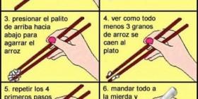 Cómo usar bien los palillos chinos