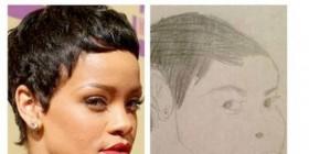 Un dibujo de Rihanna