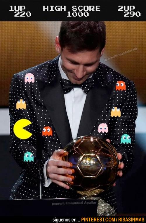 El divertido traje de Messi