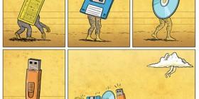 Evolución del almacenamiento de datos