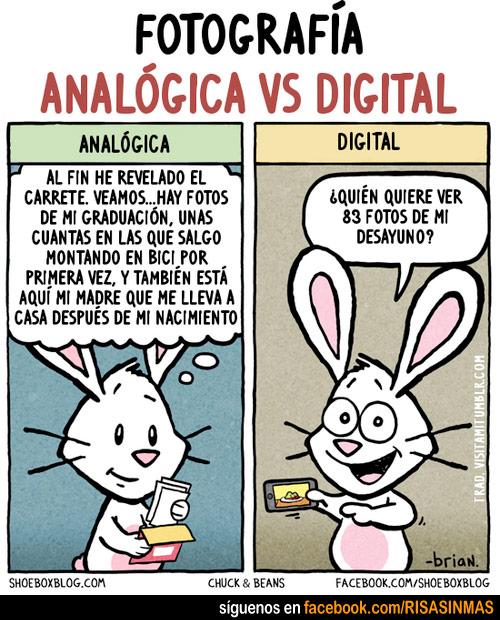 Fotografía analógica vs Fotografía digital