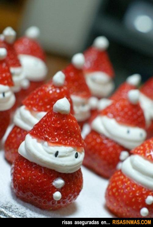 Fresas a lo Papá Noel