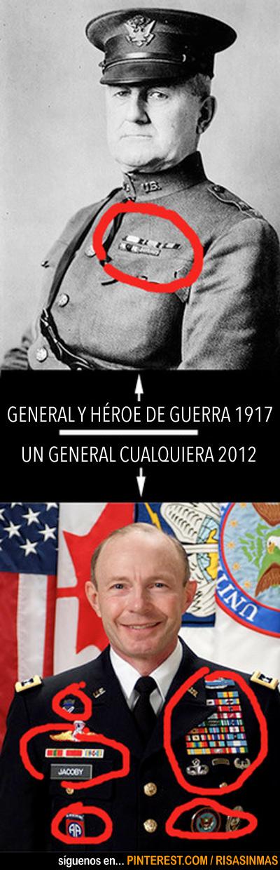 General de antes y General de hoy en día