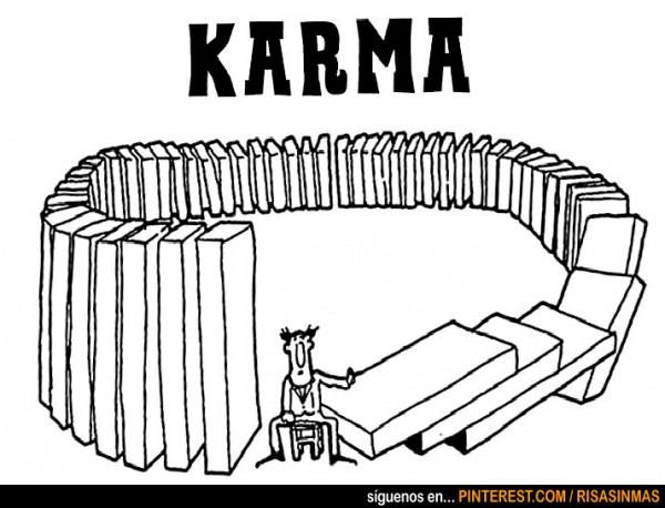 Definición gráfica de Karma