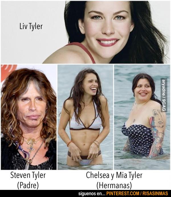 Liv Tyler y sus hermanas