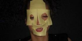 Mascarilla facial de lonchas de queso