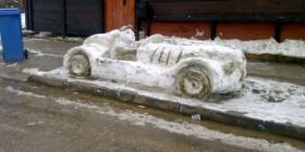 Muñecos de  nieve originales: deportivo
