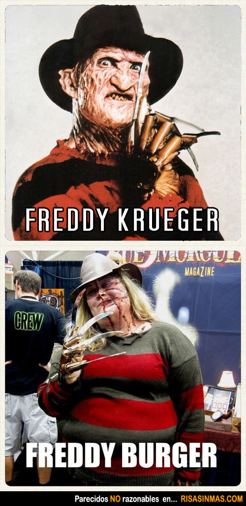 Parecidos NO razonables: Freddy Krueger