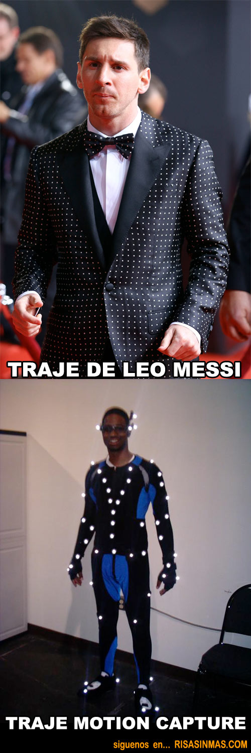 Traje Leo Messi modelo motion capture