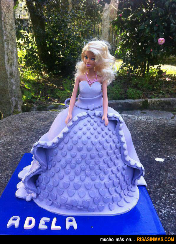 Tartas originales: Barbie