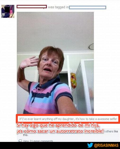 Madres que copian a sus hijas en Facebook