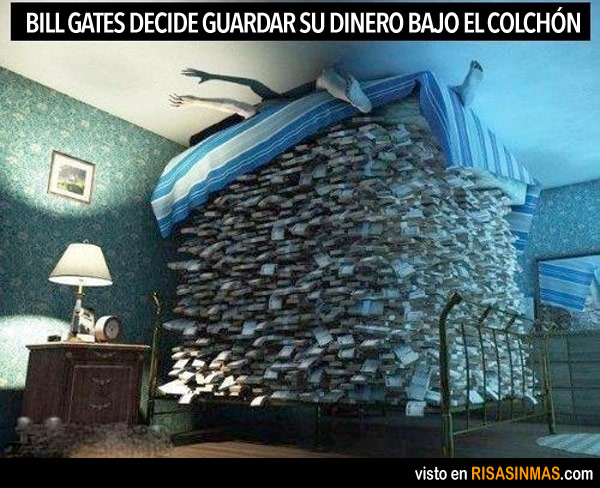 Bill Gates decide guardar su dinero