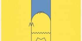 Cartel de Los Simpsons minimalista