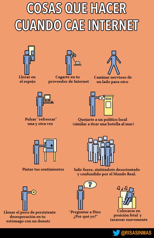 Cosas que hacer cuando cae Internet