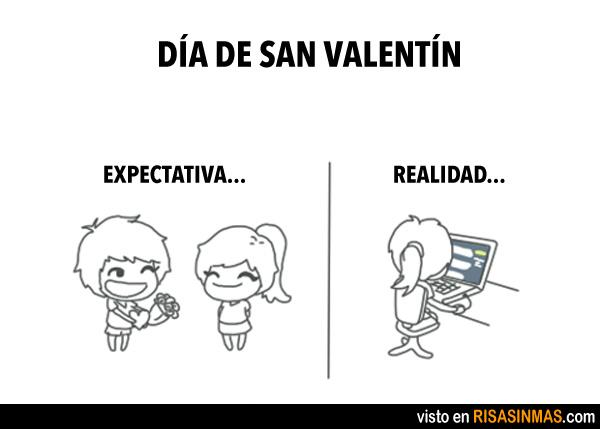 Día de San Valentín: Expectativas