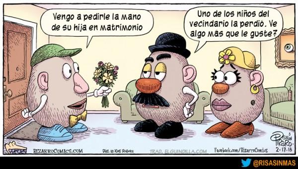 La mano de la hija de Mr. Potato