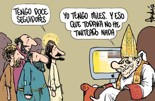 Los seguidores del Papa en Twitter