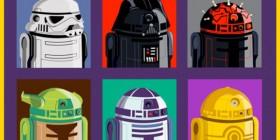 Personajes de Star Wars como R2D2