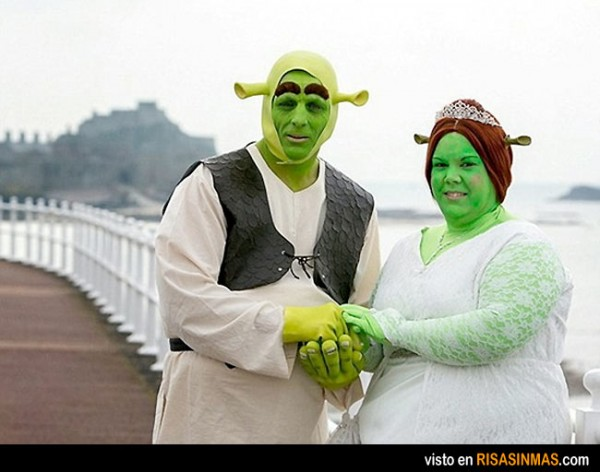 Parecidos NO razonables: Shrek y Fiona