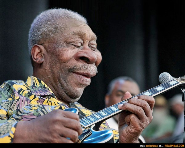 Caricatura de BB King
