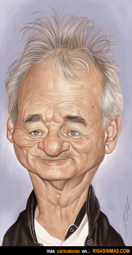 Caricatura de Bill Murray
