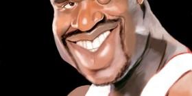 Caricatura de Shaquille O'Neal