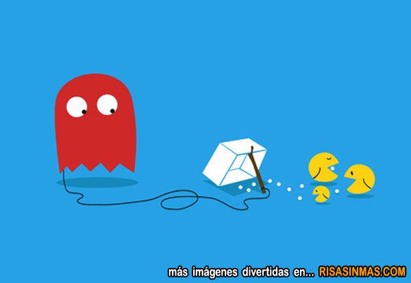 Fantasma intentando cazar Pacman