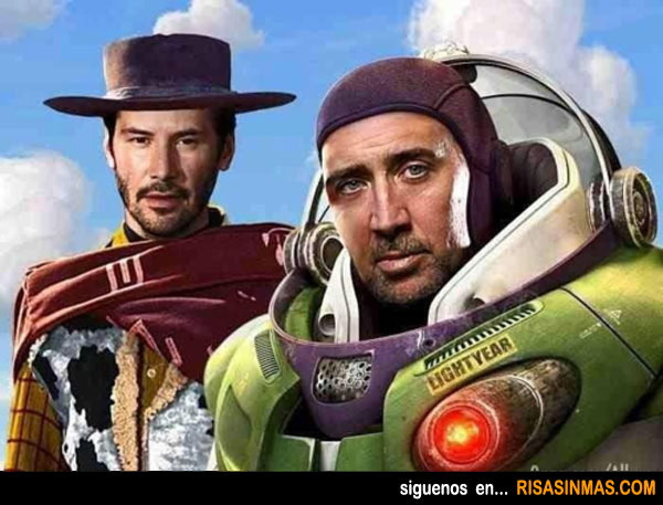Woody y Buzz humanizados