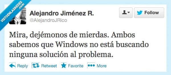 Windows está buscando una solución al problema